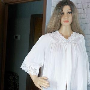 White Vintage bed jacket size Medium